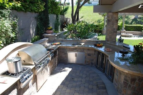 outdoor kitchen cost costco faucets landscaping network appliances