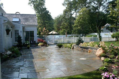 south shore bluestone patio - landscaping