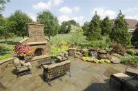 Tuscan Backyard Terrace - Landscaping Network