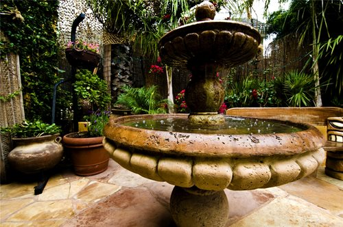 tiered garden fountain design ideas