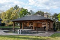 Rustic Mississippi Pool House - Landscaping Network