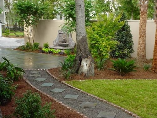 backyard walkway ideas - landscaping