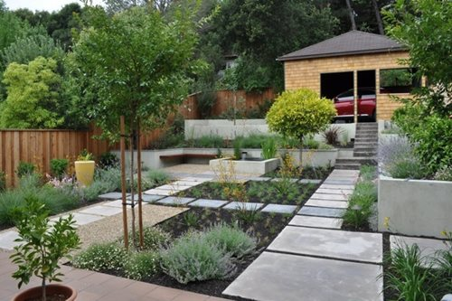 zen courtyard garden - landscaping