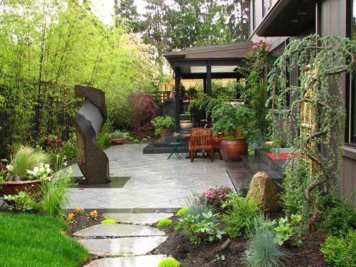 private japanese garden - landscaping