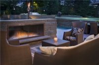Outdoor Concrete Fireplace - Landscaping Network