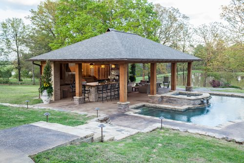 Rustic Mississippi Pool House