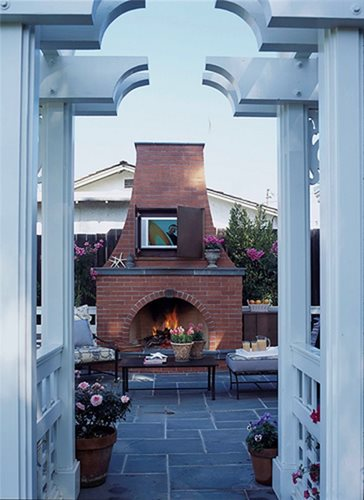 Outdoor Brick Fireplace  Landscaping Network