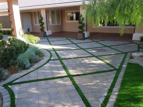 artificial turf backyard - landscaping
