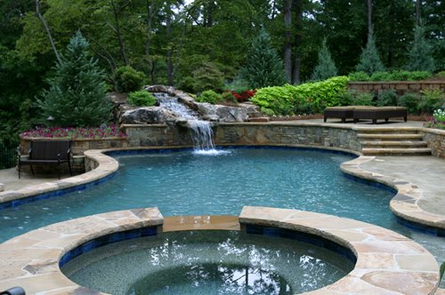 Dream About Wallpaper Falling Off Terraced Swimming Pool Landscaping Network