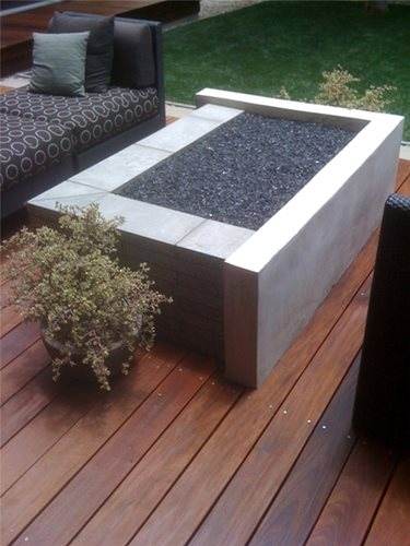 Modern Concrete Fire Pit Design Tips Landscaping Network