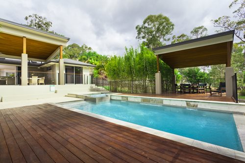 swimming pool finishes - landscaping