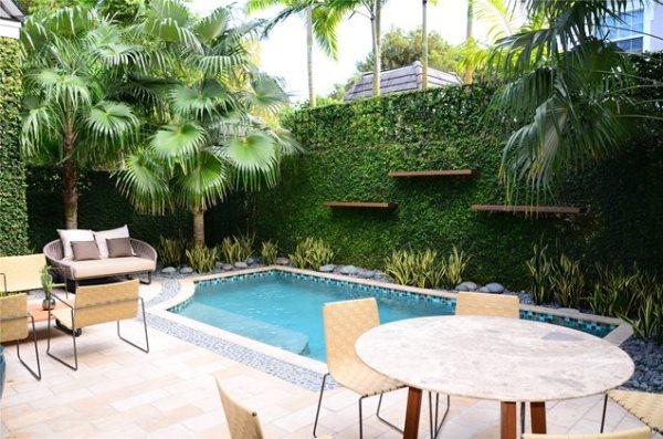 modern pool - miami fl