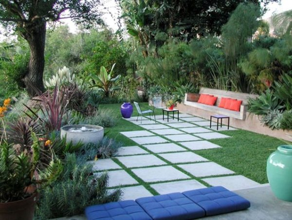 pavers in los angeles lawn edging