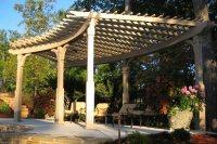 Woodwork Curved Pergola Construction PDF Plans