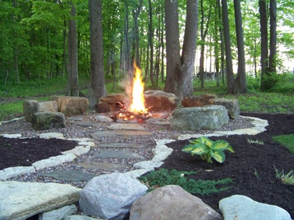 Outdoor Natural Gas Fire Pit