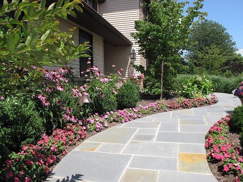 flagstone walkway ideas &