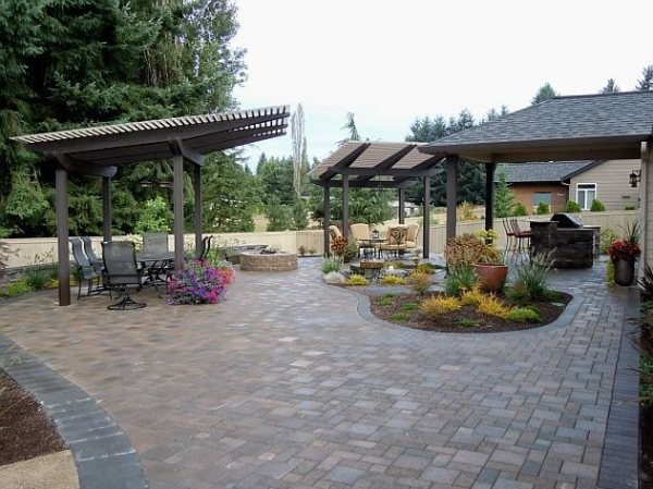 backyard landscaping - battle ground