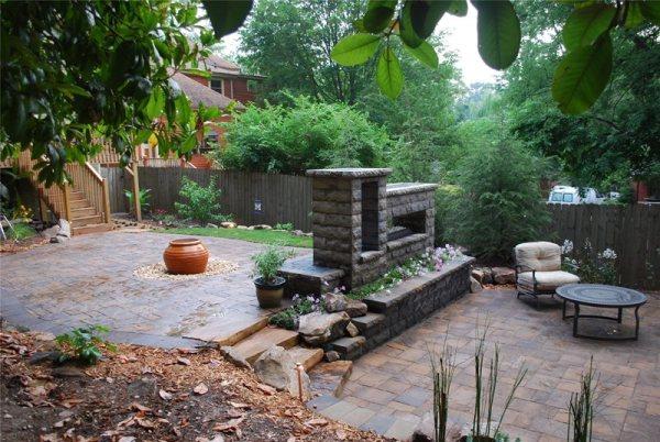 backyard landscaping - hoschton