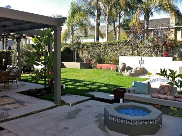 backyard landscaping - fullerton