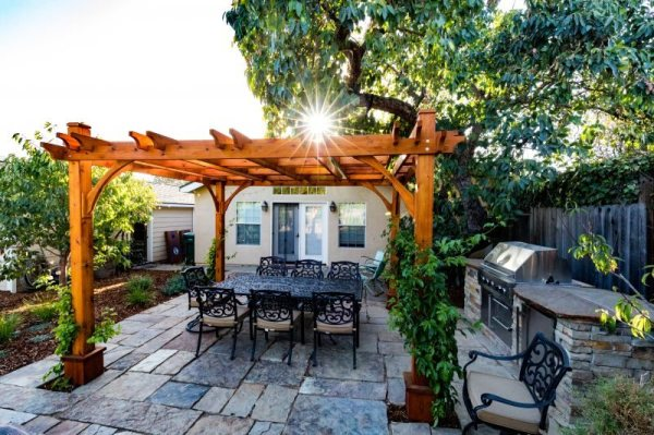 backyard landscaping - los osos