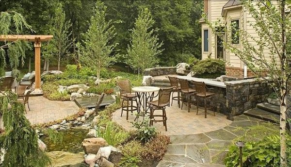country landscape design - sterling