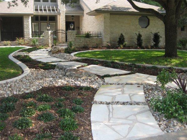 front yard landscaping - cedar