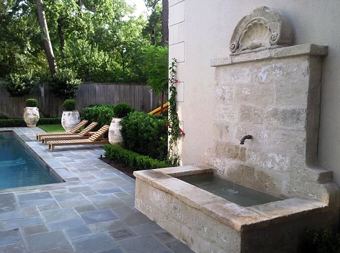 Fireplace Houston Mediterranean Landscaping - Houston, Tx - Photo Gallery