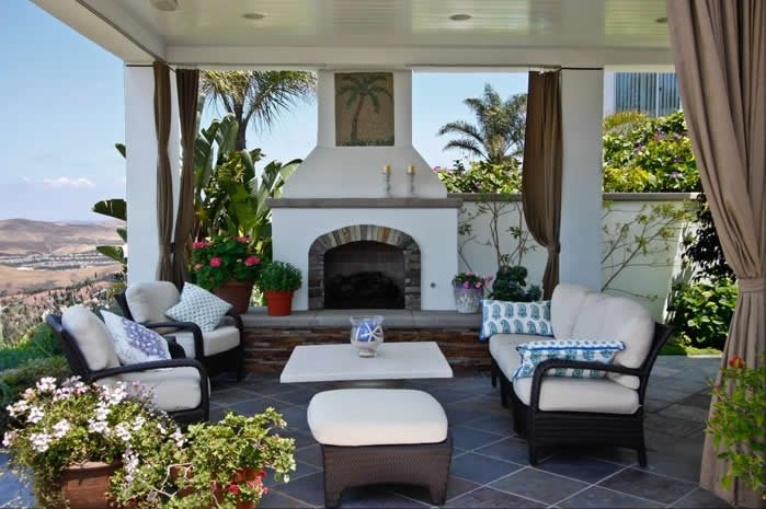 Image Result For Spanish Style Large White Stucco Fireplace Outdoor Fireplace - Capistrano Beach, Ca - Photo Gallery