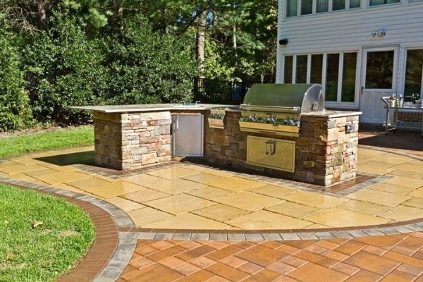 l shaped outdoor kitchen Outdoor Kitchen - Centerport, NY - Photo Gallery