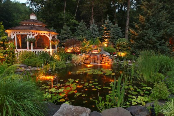 pond and waterfall - wappingers