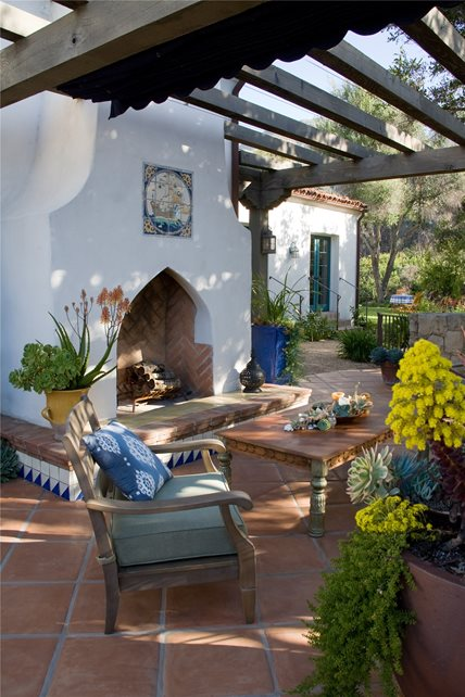 Image Result For Spanish Style Large White Stucco Fireplace Southwestern Fireplace - Santa Barbara, Ca - Photo Gallery