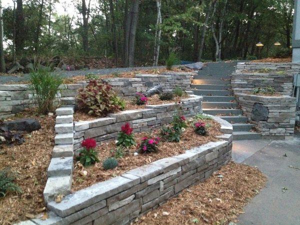 split driveway landscaping solution