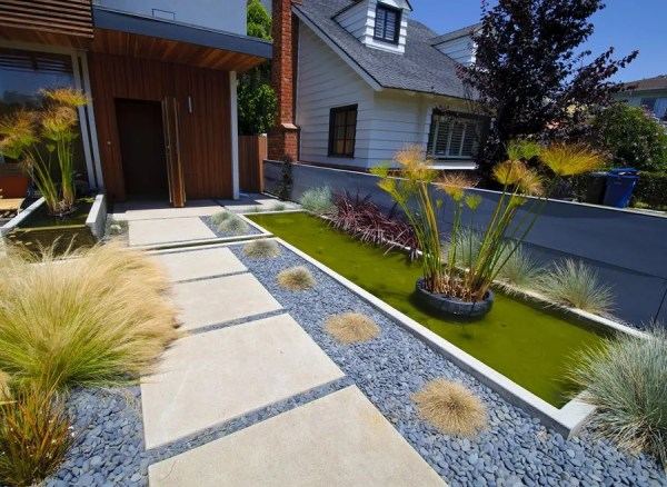 concrete walkway design - landscaping
