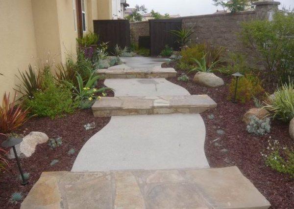 concrete walkway design - landscaping