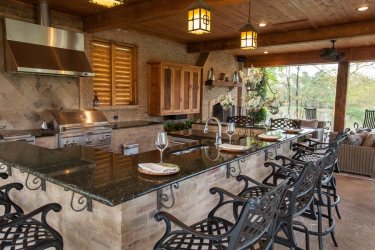 outdoor dining bar luxury cabana kitchen backyard kitchens living rustic pool split level spaces landscaping room patio rooms backyards summer