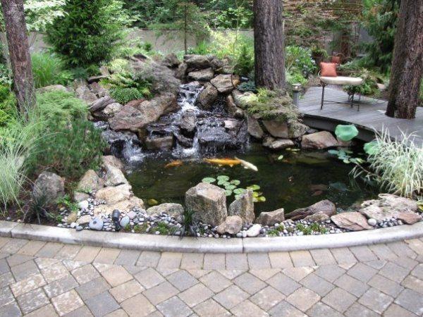 pond size depth & volume - landscaping