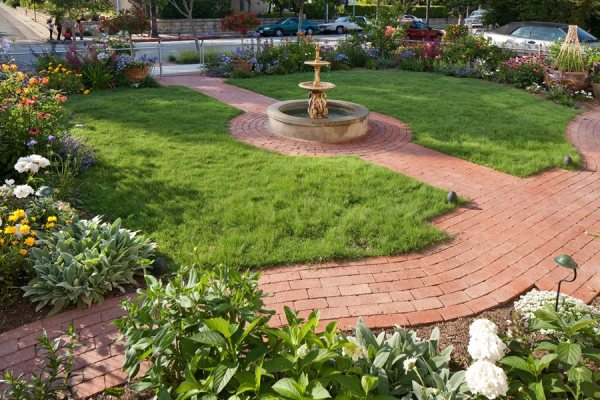 brick walkway ideas - landscaping