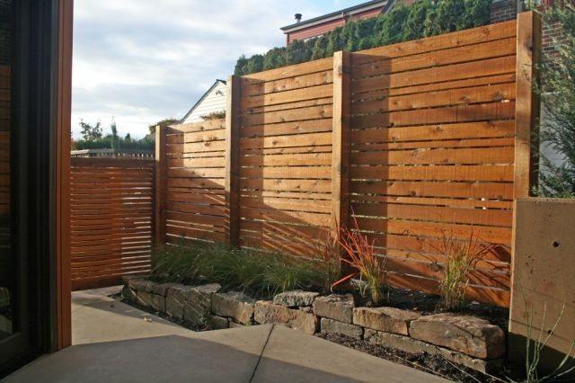 Vinyl Fence Insert Block Wall