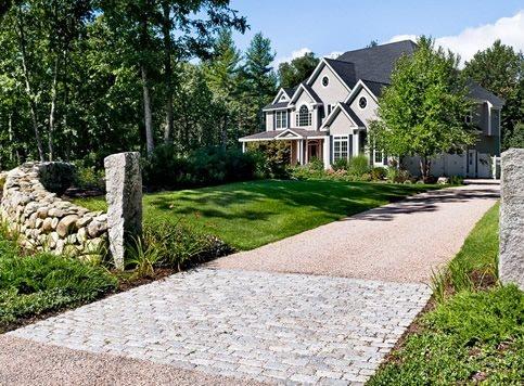 gravel driveway design - landscaping