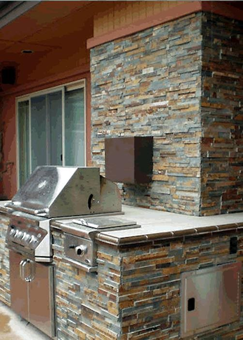 cost of kitchen island types flooring pros and cons stone veneer for outdoor kitchens - landscaping network