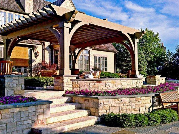 terraced backyards - landscaping