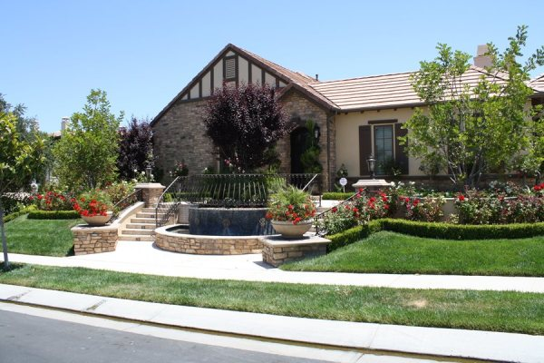 front yard hill landscaping ideas