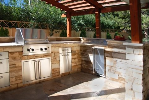 backyard kitchen designs tile floor ideas outdoor landscaping network arcadia design group centennial co