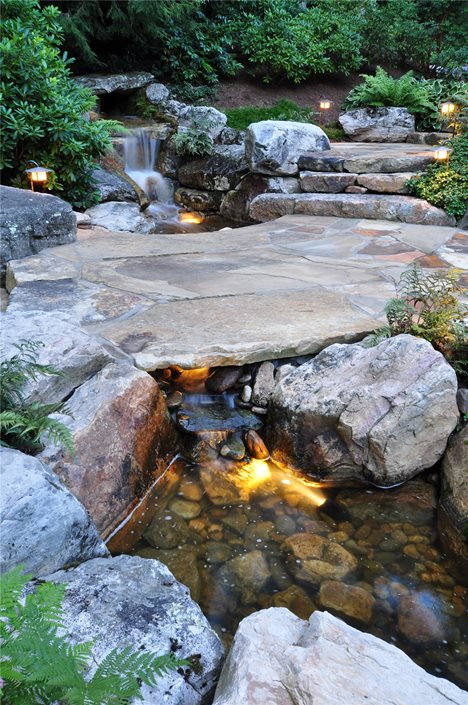 front yard fountains & - landscaping