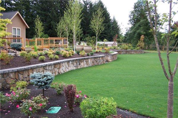 backyard lake landscaping