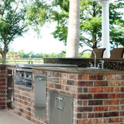Red Stone Outdoor Kitchen Wall Tiles For Brick Barbeque Veneer - Landscaping Network