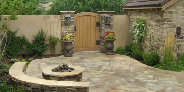 flagstone design ideas - landscaping