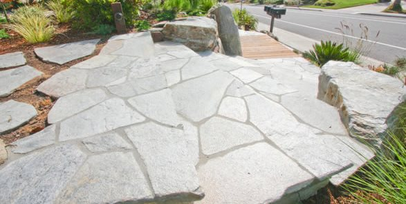 flagstone paving ideas landscaping
