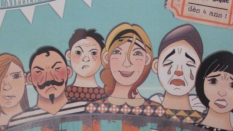Le visuel de l'exposition « La Grande parade des émotions ».