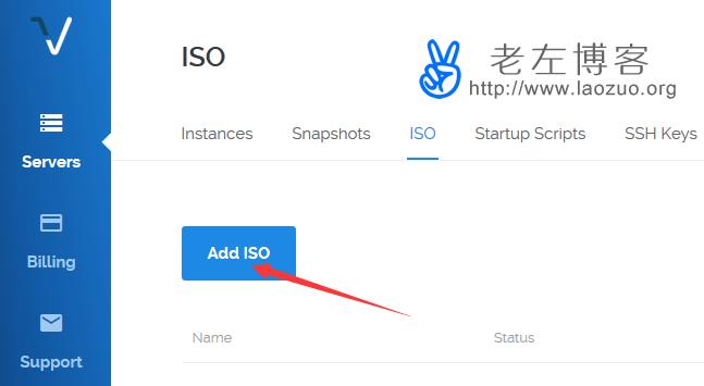 点击ADD ISO上传